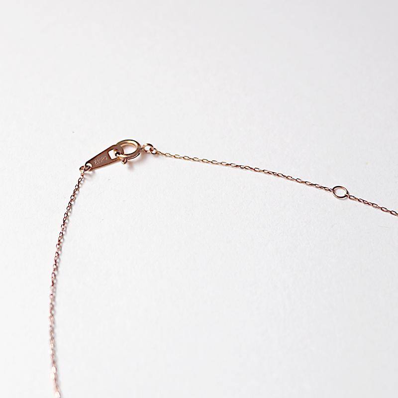 0.04カラット ダイヤモンド 馬蹄ペンダント 10金ピンクゴールド