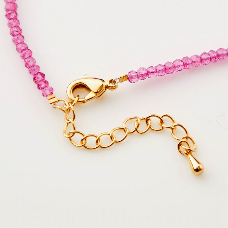 【OUTLET】【お買い得プライス】ガーネット×ピンククォーツデザインネックレス