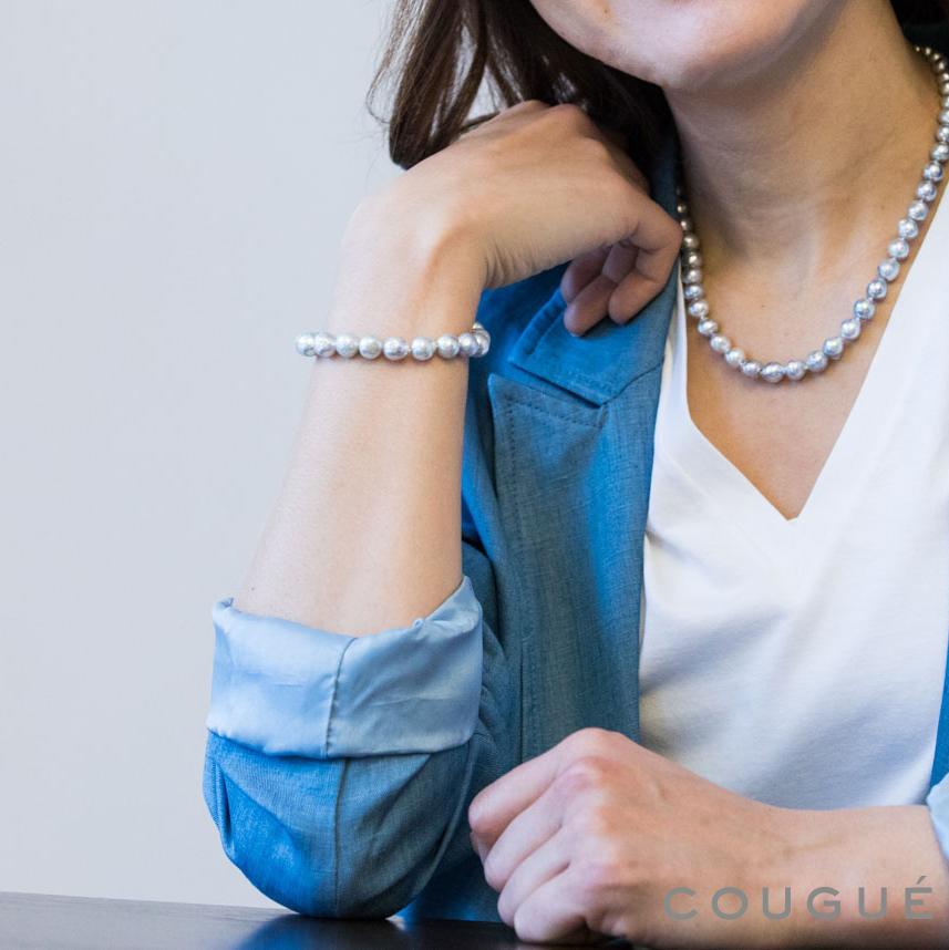アコヤ真珠 プラチナグレーカラー ブレスレット