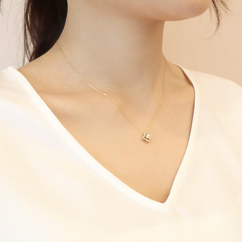 【一点物】【品質保証付き】 アコヤパール×ダイヤモンド 18金 ネックレス