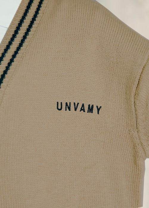【UNVAMY】スクールニットカーディガン/UNISEX(ベージュ)
