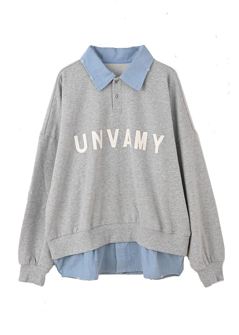 【UNVAMY】シャツドッキングスウェット/MENS