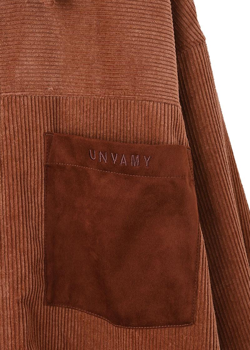 【UNVAMY】コーデュロイジャケット/MENS(ブラウン)