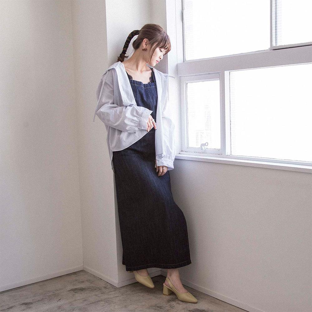 20%OFF【Cherish me】デニムマキシワンピース