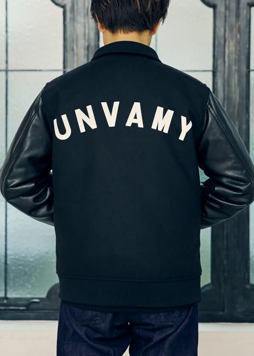 【UNVAMY】バッグロゴスタジャン/MENS(ブラック)