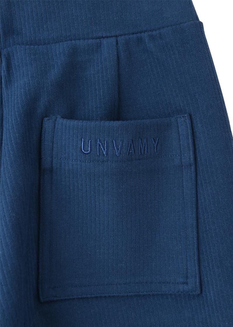 【UNVAMY】サイドスリットリブフレアパンツ /WOMENS(ダークブルー)
