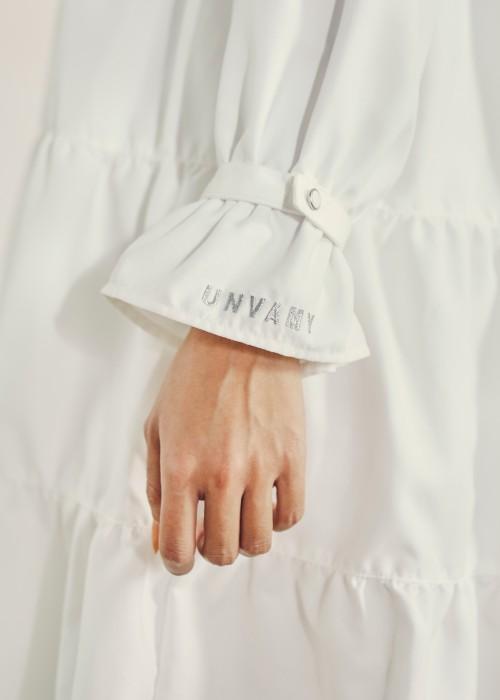 【UNVAMY】襟付きティアードワンピース/WOMENS