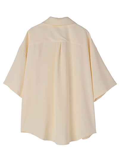 【UNVAMY】トロミオープンカラーシャツ/MENS(アイボリー)
