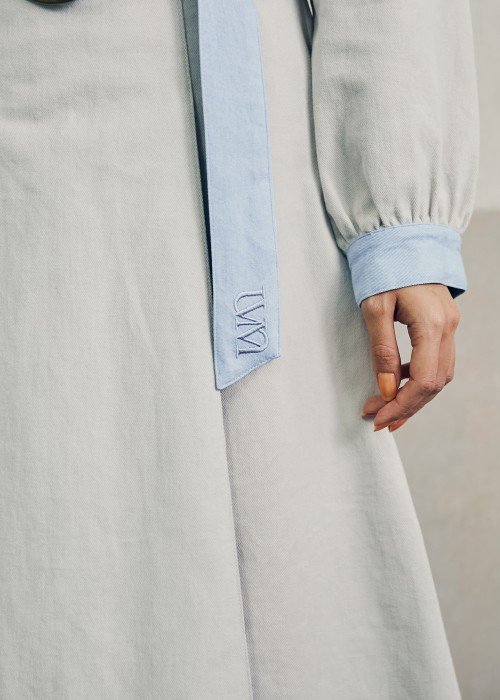 【UNVAMY】ダンガリー切り替えセットアップ/WOMENS