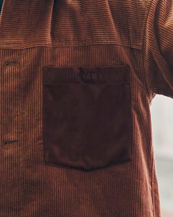 【UNVAMY】コーデュロイセットアップ/MENS(ブラウン)