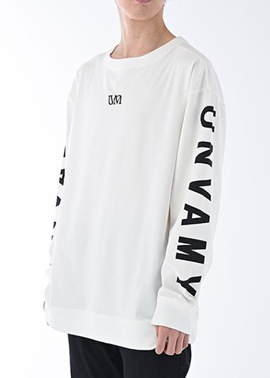 【UNVAMY】クルーネックロゴロングTEE/UNISEX(ホワイト)