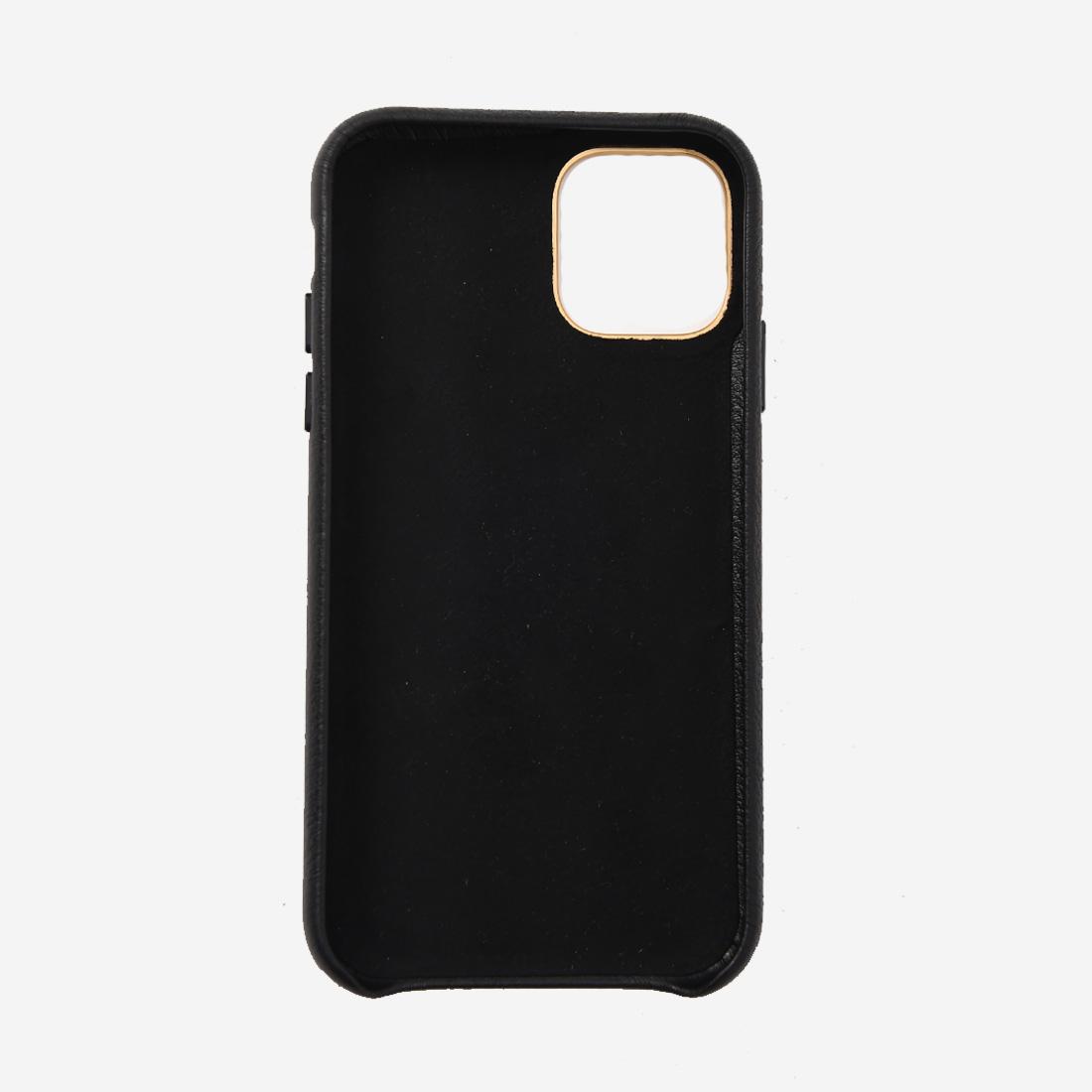 【ReZARD】Metal plate Leather iPhone case