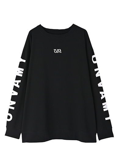 【UNVAMY】クルーネックロゴロングTEE/UNISEX(ブラック)