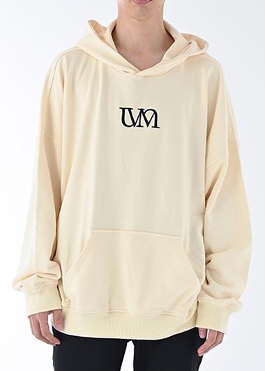 【UNVAMY】刺繍ロゴフーディ/UNISEX(アイボリー)