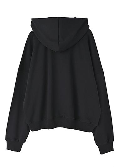 【UNVAMY】刺繍ロゴフーディ/UNISEX(ブラック)
