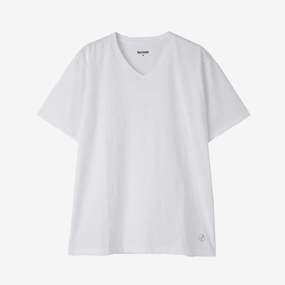 【ReZARD】Hem Tail Logo V-neck Tee