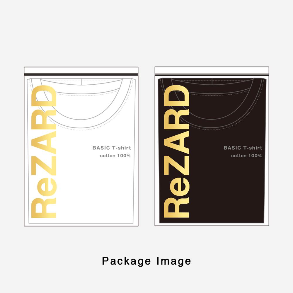 【ReZARD】Hem Tail Logo V-neck Tee
