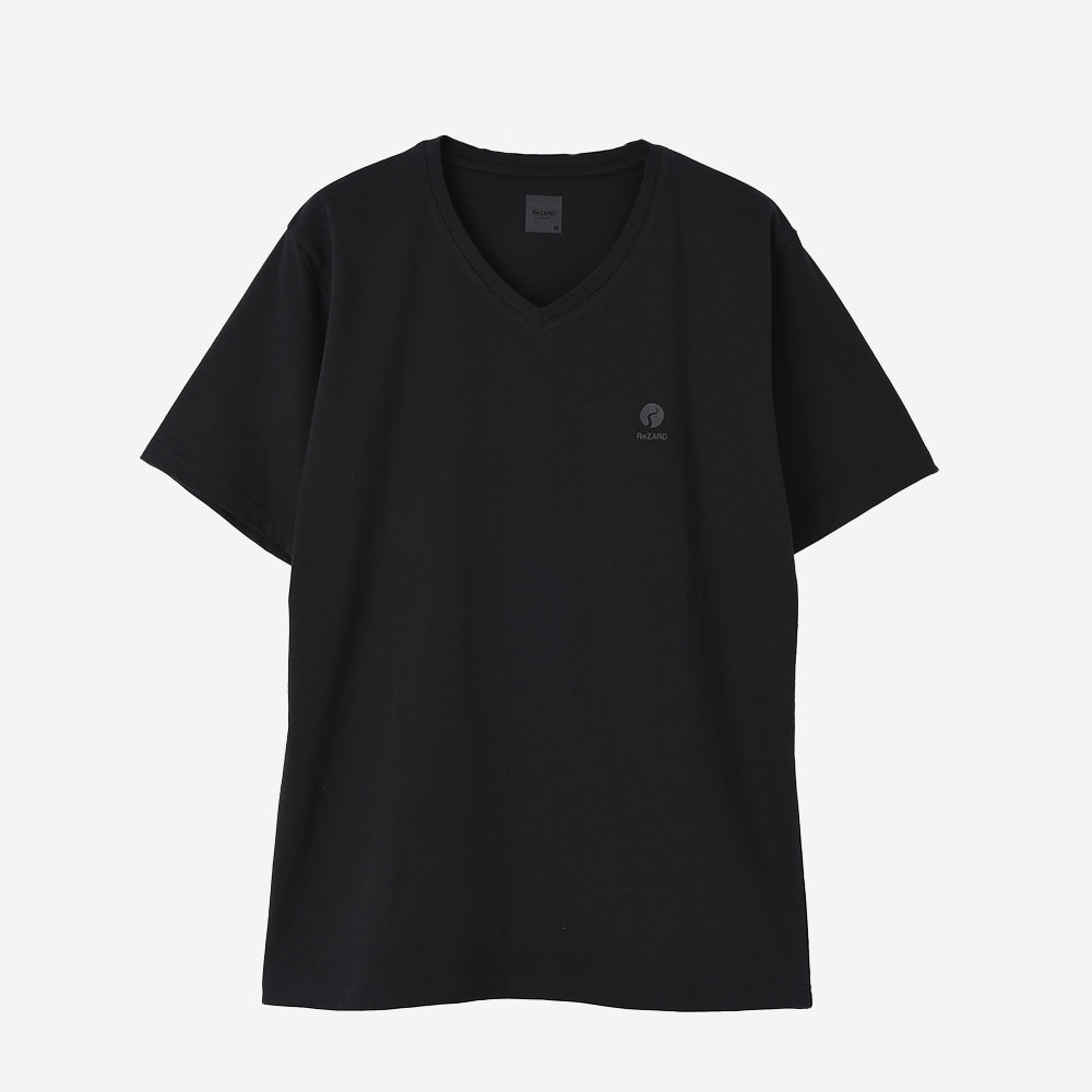 【ReZARD】Chest Tail Logo V-neck Tee