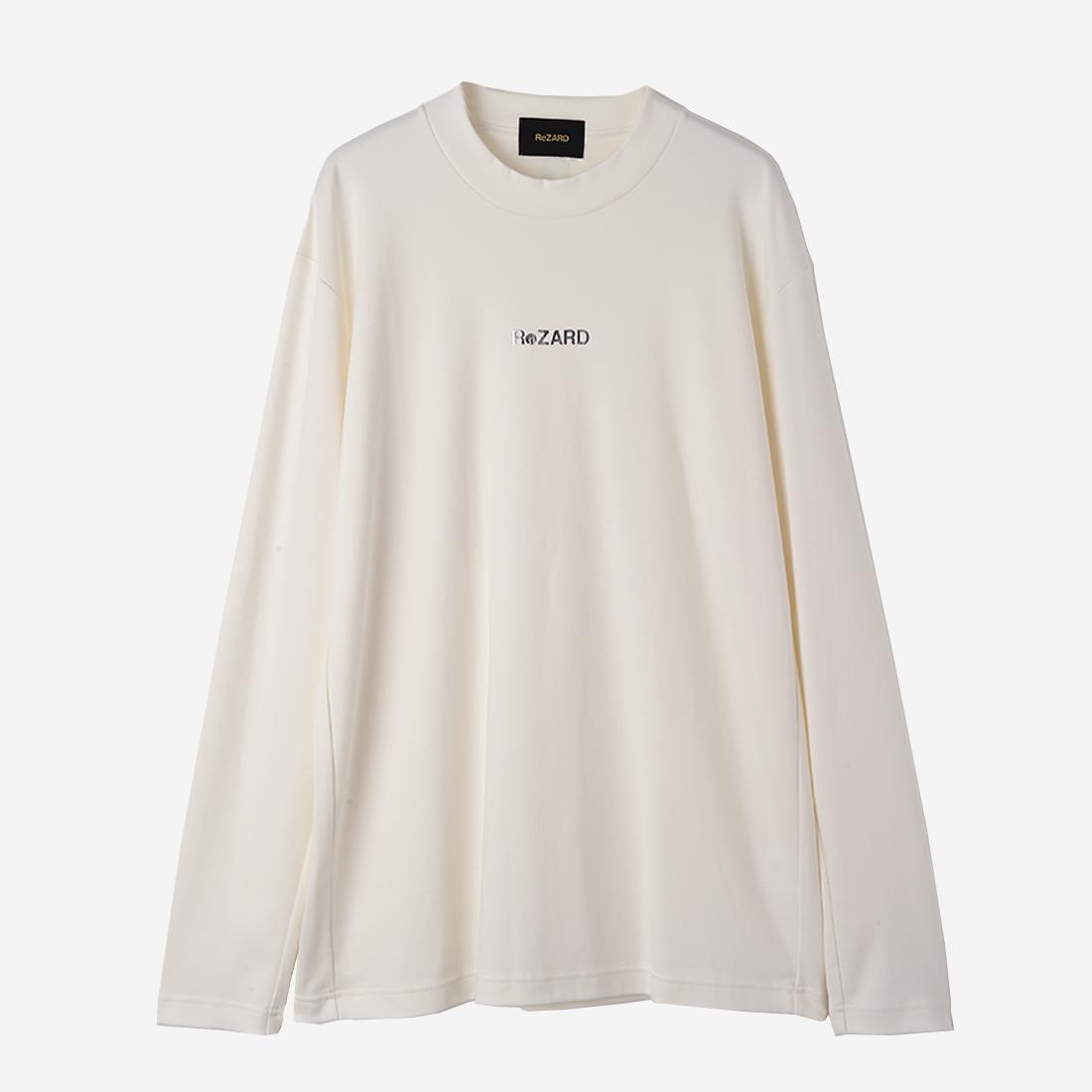 【ReZARD】Mock neck Long-sleeve TEE (logo print)