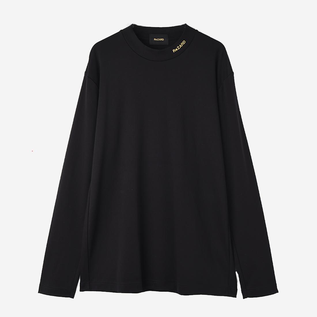 【ReZARD】Mock neck Long-sleeve TEE (neck logo print)