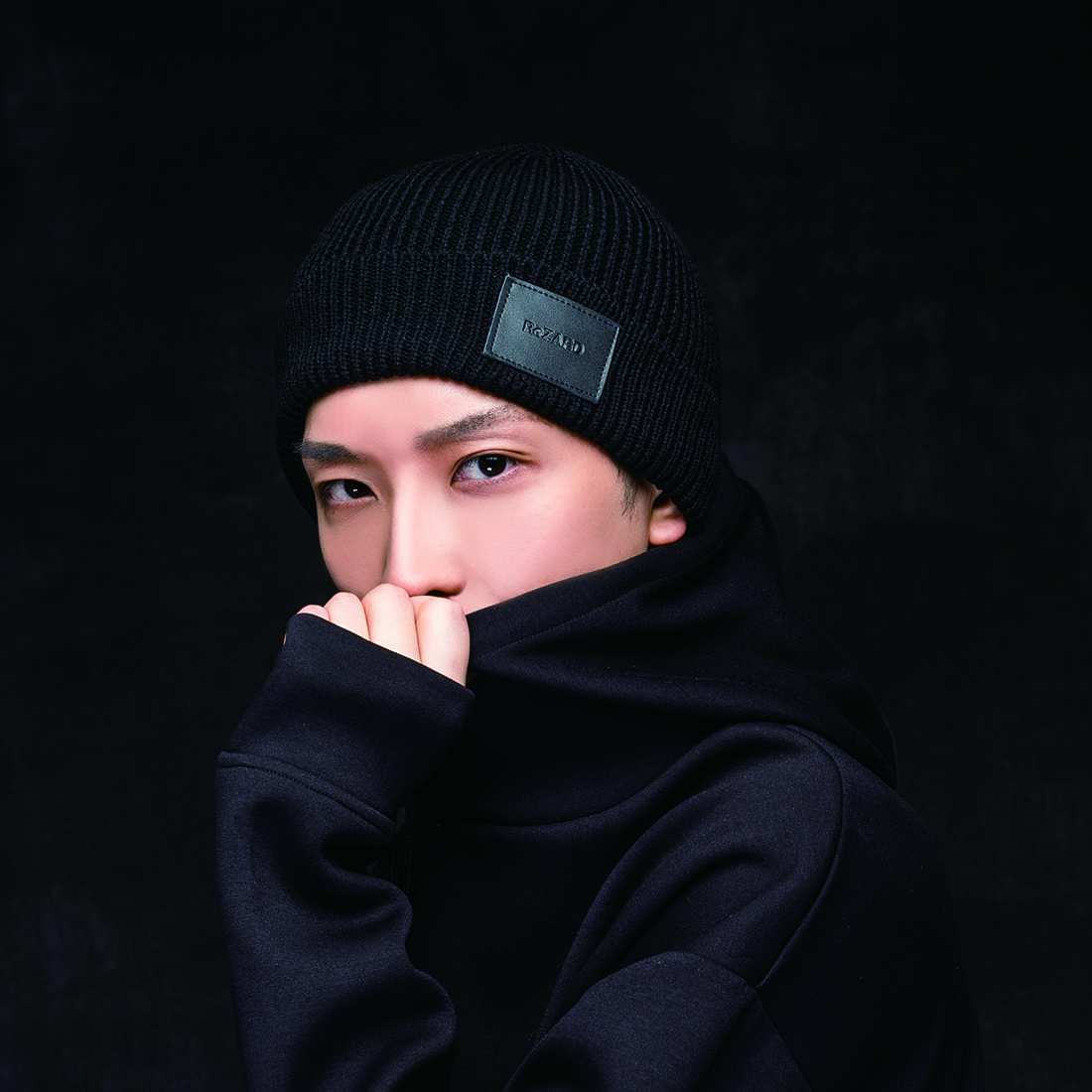 【ReZARD】Leather tag Knit Cap