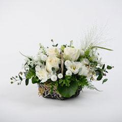 白系・真珠【和テイスト生花】