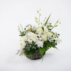 白系・白磁【和テイスト生花】
