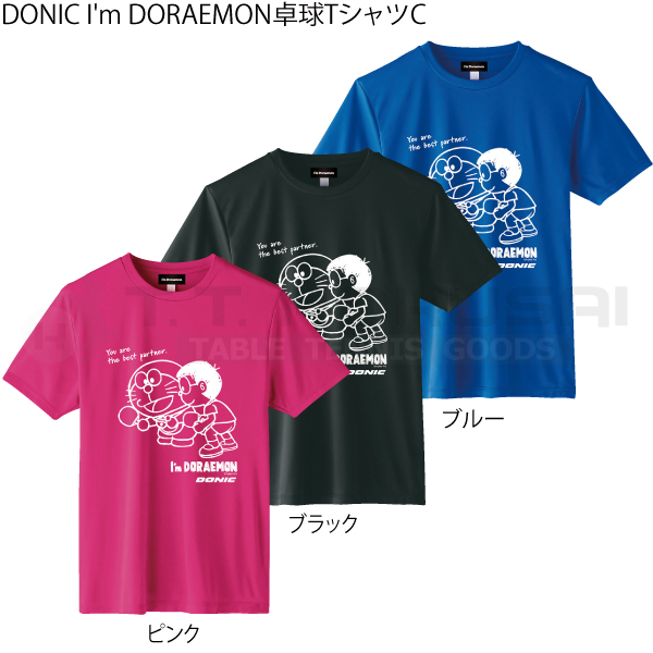 DONIC I'm DORAEMON卓球TシャツC