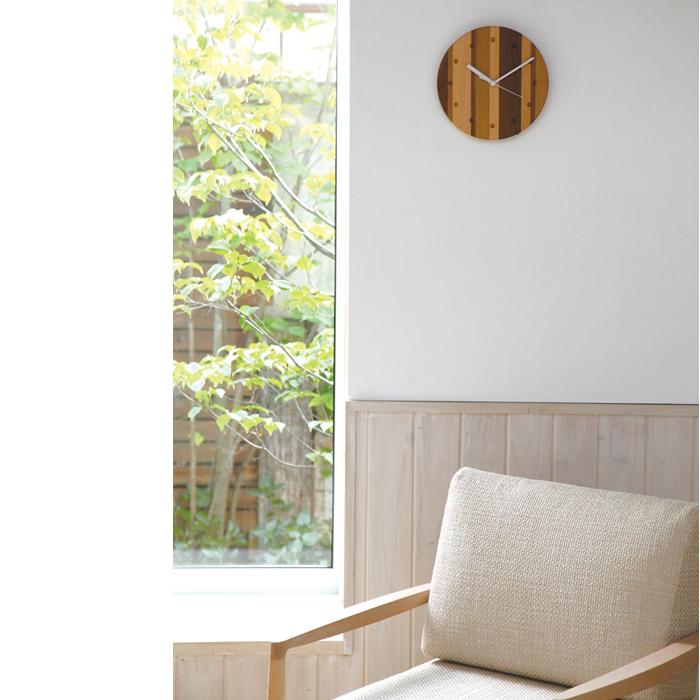 PLAM 小さい時計2 ピット ウォルナット/オーク 小さな無垢の木 幸せインテリア HIDAKAGU