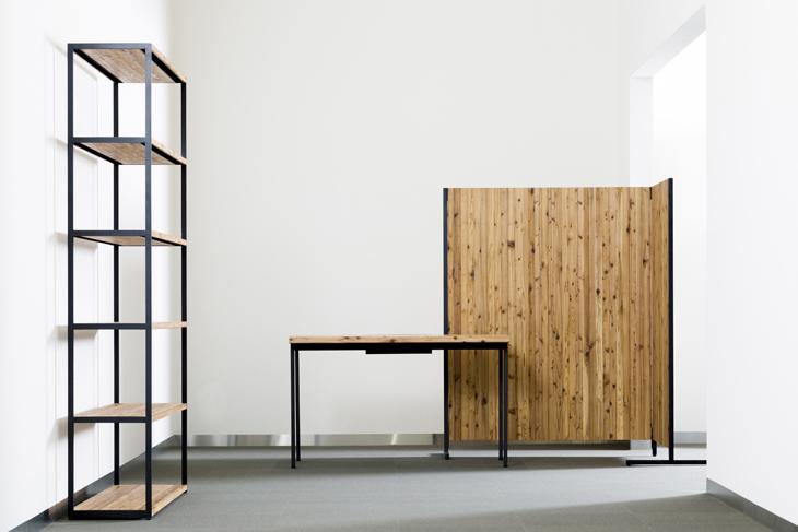 木と人 天然杉材 ワークデスク Work desk オフィス家具 無垢材 幅はぎ オーダー