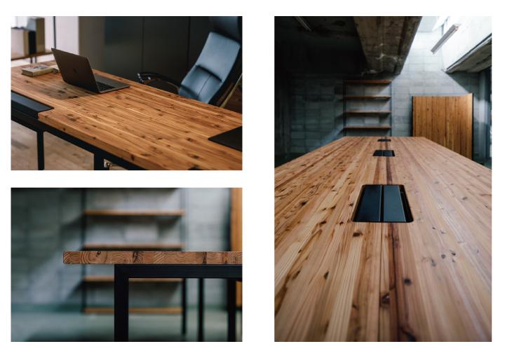 木と人 天然杉材 シェルフラック Shelf lack オフィス家具 無垢材 幅はぎ オーダー