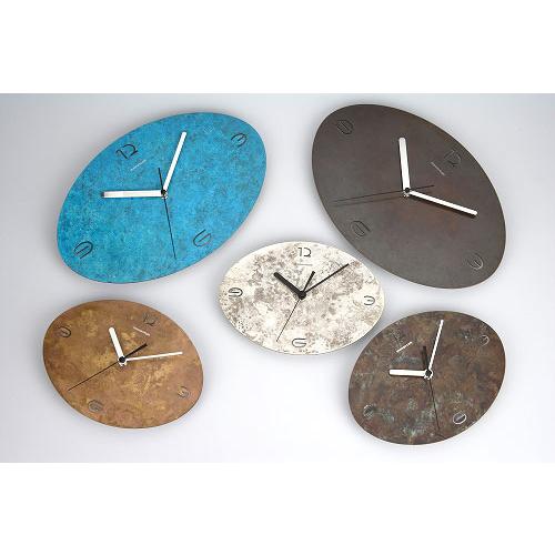 time and space オーバル 大・小 時計 モメンタムファクトリー・Orii(momentum factory Orii) 高岡銅器