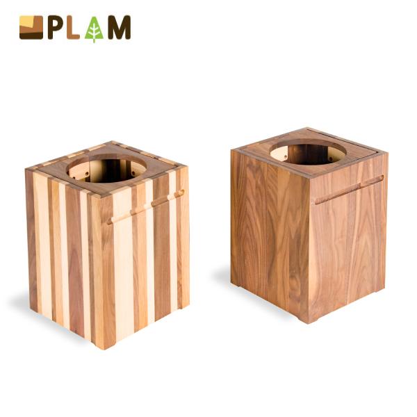 PLAM ゴミ箱1 ウォルナット/モザイク 小さな無垢の木 幸せインテリア HIDAKAGU