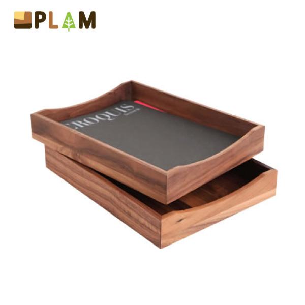 PLAM レタートレイ ウォルナット小さな無垢の木 幸せインテリア HIDAKAGU