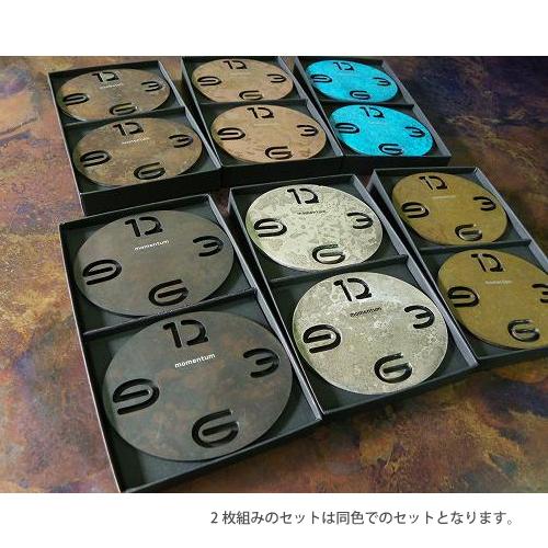 oval coaster 2枚組/5枚組(5色セット) コースター モメンタムファクトリー・Orii(momentum factory Orii) 高岡銅器