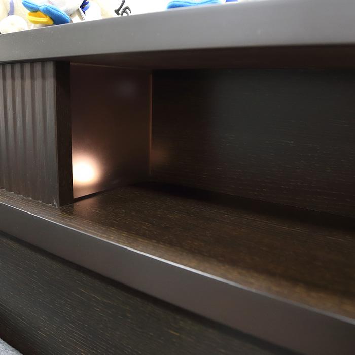 ドリームベッド カエラル 寝室を高級感と落ち着いた雰囲気で演出するベッドフレーム 日本製 F(フォースター仕様) 掃除がしやすい 床面高22cm