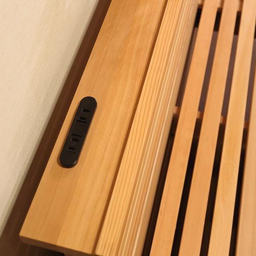 ハーモニー 木のぬくもりを全身で感じる 通気性抜群のスノコ状フトンベッドフレーム パイン材 F