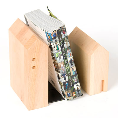PLAM ブックエンド1 ビーチ/ウォルナット 小さな無垢の木 幸せインテリア HIDAKAGU