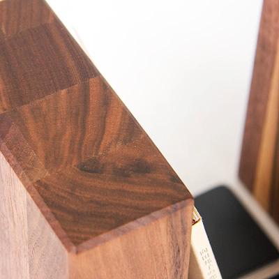 PLAM ブックエンド3 オーク/ウォルナット 小さな無垢の木 幸せインテリア HIDAKAGU