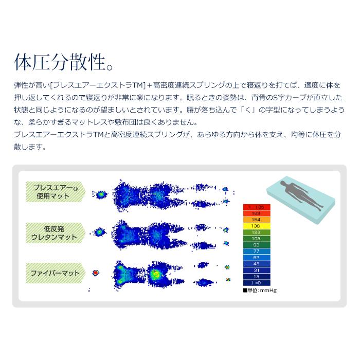 フランスベッド×東洋紡 RH-BAE ブレスエアー エクストラ ボディコンディショニングマットレス 日本製