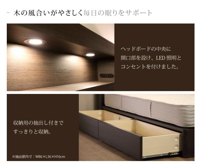 SIMMONS ビューティレスト セレクション ボックス フレーム 抽出し付きタイプ (桐床板仕様) シングル/セミダブル/ダブル/クイーン