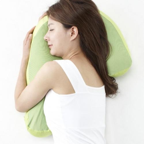 フランスベッド 安眠のための横向き寝用枕 Sleep Vantage スリープバンテージ BL/GN/PK