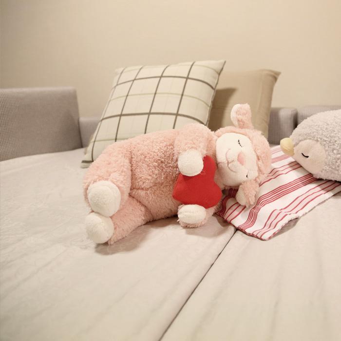 川の字で眠ろう ドリームベッド ハグミル2401 親子のコミュニケーションが生まれる絵本の読みきかせベッド 布製 超低床 日本製