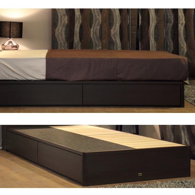 SIMMONS ビューティレスト セレクション フラット フレーム 抽出し付きタイプ (桐床板仕様) シングル/セミダブル/ダブル/クイーン
