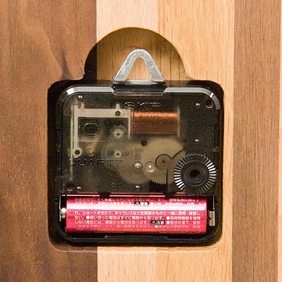 PLAM ウォールクロック モザイク角 小さな無垢の木 幸せインテリア HIDAKAGU