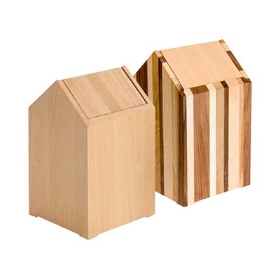 PLAM ゴミ箱2 おうち ビーチ/モザイク 小さな無垢の木 幸せインテリア HIDAKAGU