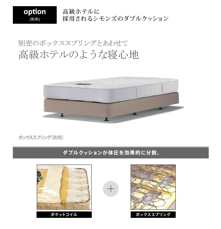 SIMMONS ビューティレスト セレクション ボックス ヘッドボード (ダブルクッションタイプ用) シングル/セミダブル/ダブル/クイーン
