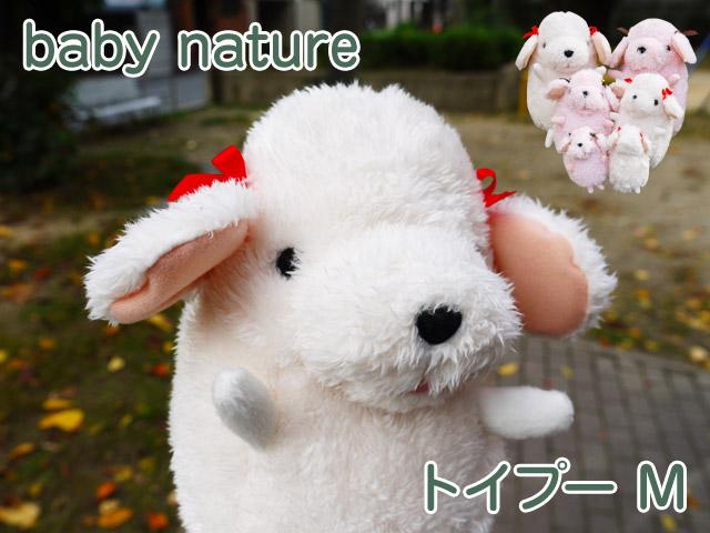 baby nature  ベィビーナチュレ トイプー  アイボリー M   シナダのかわいいトイプードルのぬいぐるみプレゼント ギフト
