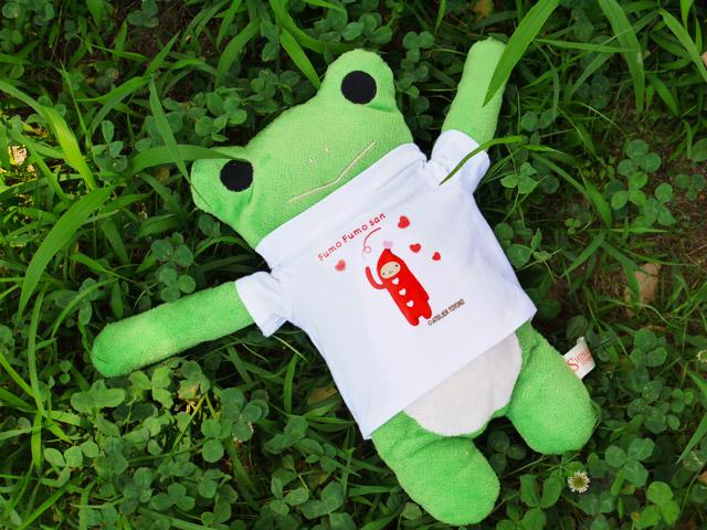 フモフモさん ハートニコラTシャツ  けろーにょ(L)   可愛い癒しのぬいぐるみ シナダ製  プレゼントにも   GReeeeNのPVにも登場!
