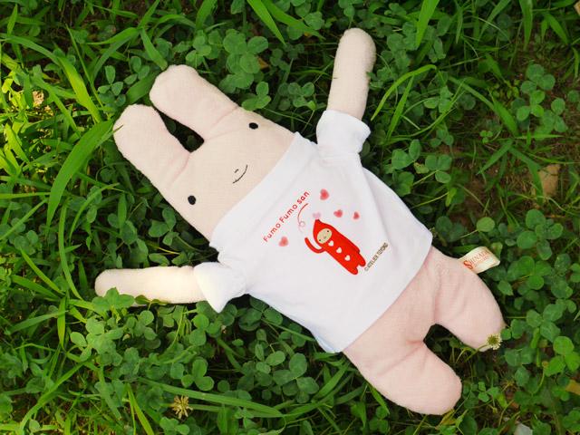 フモフモさん ハートニコラTシャツ  すもも(L)   可愛い癒しのぬいぐるみ シナダ製  プレゼントにも   GReeeeNのPVにも登場!